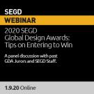 2020 January Webinar, 2020 SEGD Global Design Awards: Tips on Entering to Win
