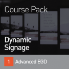 Banner Graphic for the SEGD Dynamic Signage Course Collection on