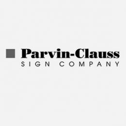 Parvin-Clauss Sign Company Logo
