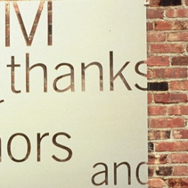 Brooklyn Academy of Music Signage, Pentagram