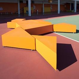 First Day of School, Colegio Anchieta, SCENO Environmental Graphic Design