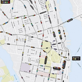 Halifax Transit Bus Map and Street Signage Redesign, Michelle Jospe, NSCAD University
