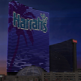 Harrah's Resort Media Façade, Harrah's Resort Atlantic City, Tim Hunter Design