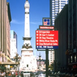 Downtown Indianapolis Signage Program, Corbin Design