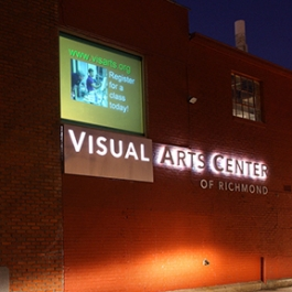 Visual Arts Center of Richmond Signage, 3north