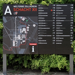Zeche Zollverein Wayfinding, Landesentwicklungsgesellsutag (LEG Research and Development Company), F1RST DESIGN