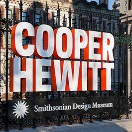 Cooper Hewitt, Smithsonian Design Museum Signage