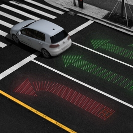 Keep Visible—LED Traffic Guide Line