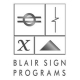 Blair Signs Programs Logo