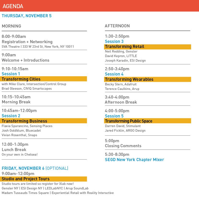 Xlab Agenda brief 10/15/15