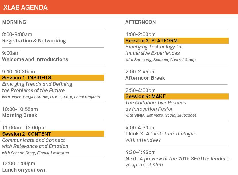 2014 Xlab Agenda